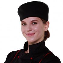 Шапочка повара «Таблетка» чёрная [00400]