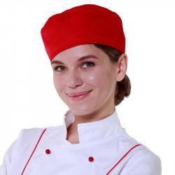 Шапочка повара «Таблетка» красная [00400] - интернет-магазин КленМаркет.ру