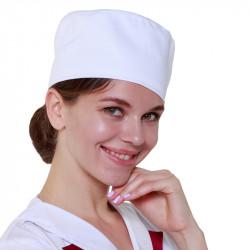 Шапочка повара «Таблетка» белая [00400] - интернет-магазин КленМаркет.ру