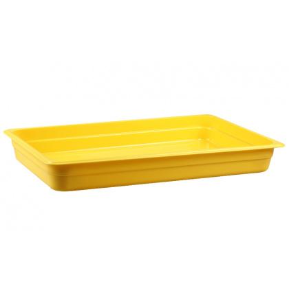 Гастроемкость из полипропилена без крышки GN 1/1 530х325x65 мм желтая [422107306] - интернет-магазин КленМаркет.ру