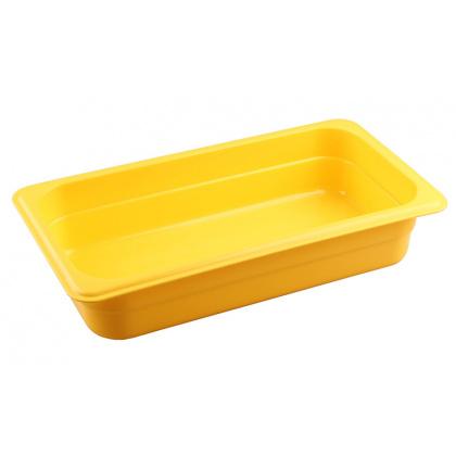 Гастроемкость из полипропилена без крышки GN 1/3 325х176х65 мм желтая [422101006] - интернет-магазин КленМаркет.ру