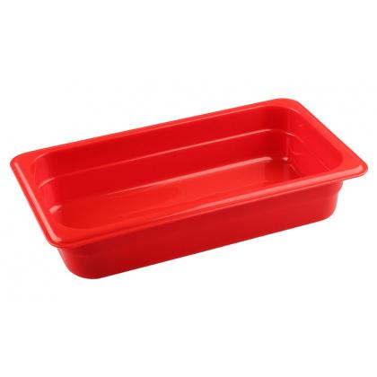 Гастроемкость из полипропилена без крышки GN 1/3 325х176х65 мм красная [422101004] - интернет-магазин КленМаркет.ру