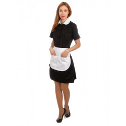Платье+фартук для горничной черное [00004] - интернет-магазин КленМаркет.ру
