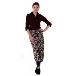 Рубашка женская коричневая - интернет-магазин КленМаркет.ру