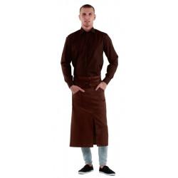 Рубашка мужская коричневая - интернет-магазин КленМаркет.ру
