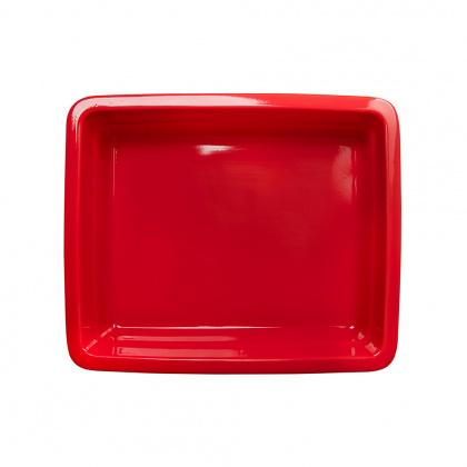 Гастроемкость керамическая «Corone» GN 1/2 326х265х60 мм красная [LQ-QK15029-186C] - интернет-магазин КленМаркет.ру