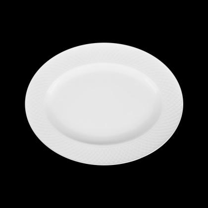 Блюдо овальное «Corone» 285х225 мм с орнаментом - интернет-магазин КленМаркет.ру