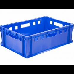 Ящик 600х400х200 мм сплошной, универсальный Е2, ПЭНД [Е2Т] - интернет-магазин КленМаркет.ру