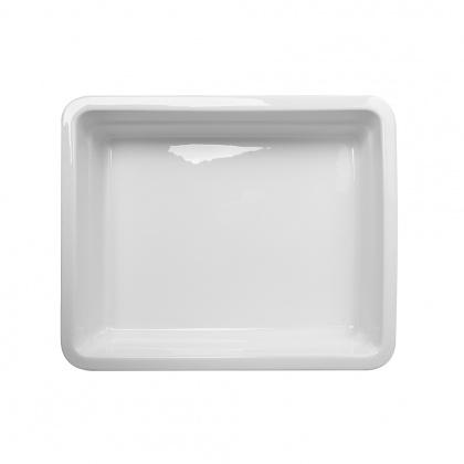 Гастроемкость керамическая «Corone» GN 1/2 326х265х60 мм белая [LQ-QK15029] - интернет-магазин КленМаркет.ру