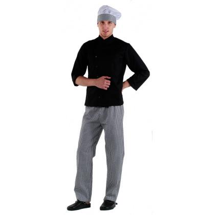 Куртка шеф-повара черная на кнопках [00005] - интернет-магазин КленМаркет.ру