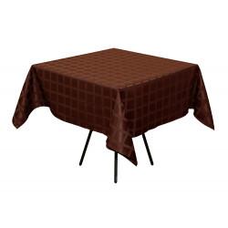 Скатерть 145х145 см «Журавинка» коричневая (квадрат)  - интернет-магазин КленМаркет.ру