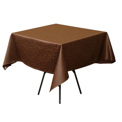 Скатерть 145х145 см «Ричард ажур» коричневая - интернет-магазин КленМаркет.ру