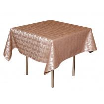 Скатерть 145х145 см «Мати» коричневая с золотом (вензель)
