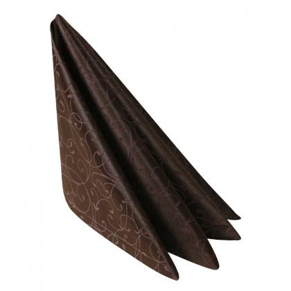 Салфетка 45х45 см «Ричард ажур» коричневая - интернет-магазин КленМаркет.ру