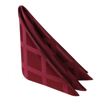 Салфетка 45х45 см «Журавинка» бордо (квадрат)  - интернет-магазин КленМаркет.ру
