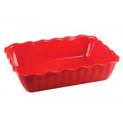 Салатник с волнистым краем ударопрочный 330х265х80 мм красный [422108204] - интернет-магазин КленМаркет.ру