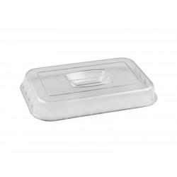 Крышка для салатника с волнистым краем 260х175х30 мм прозрачная [422108101]    - интернет-магазин КленМаркет.ру