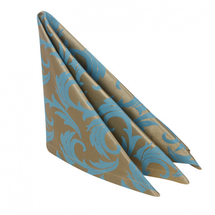 Салфетка 45х45 см «Мати» голубая с золотом - интернет-магазин КленМаркет.ру