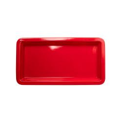 Гастроемкость керамическая «Corone» GN 1/3 322х168х30 мм красная [LQ-QK15077-186C] - интернет-магазин КленМаркет.ру