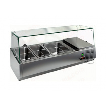 Витрина охлаждаемая настольная HICOLD VRTG 6 со стеклом к столу для пиццы PZ3-1111/GN [284223]