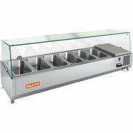 Витрина охлаждаемая настольная HICOLD VRTG 2 со стеклом к столу для пиццы PZ3-11/GN [284241]