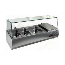 Витрина охлаждаемая настольная HICOLD VRTG 3 со стеклом к столу для пиццы PZE3-111/GN [284219] - интернет-магазин КленМаркет.ру