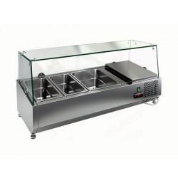Витрина охлаждаемая настольная HICOLD VRTG 4 со стеклом к столу для пиццы PZ3-111/GN [284220] - интернет-магазин КленМаркет.ру