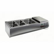 Витрина охлаждаемая настольная HICOLD VRTO 1 без крышки к столу для пиццы PZE3-11/GN [284243]