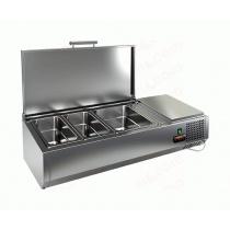 Витрина охлаждаемая настольная  HICOLD VRTU 1 с крышкой к столу для пиццы PZE3-11/GN  [284240]