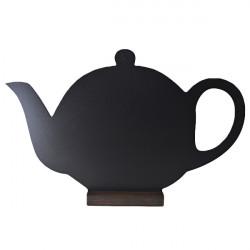 Меловая доска «Чайник» 380х245 мм на деревянной подставке  - интернет-магазин КленМаркет.ру