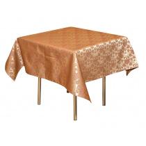 Скатерть 145х195 см «Мати» коричневая с золотом (цветок)