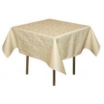Скатерть 145х145 см «Мати» белая с золотом (огурцы)
