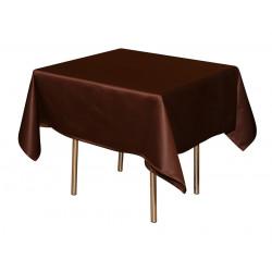Скатерть 145х145 см «Журавинка» коричневая (гладь) - интернет-магазин КленМаркет.ру