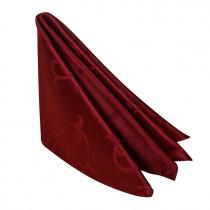 Салфетка 45х45 см «Журавинка» бордо (вензель)