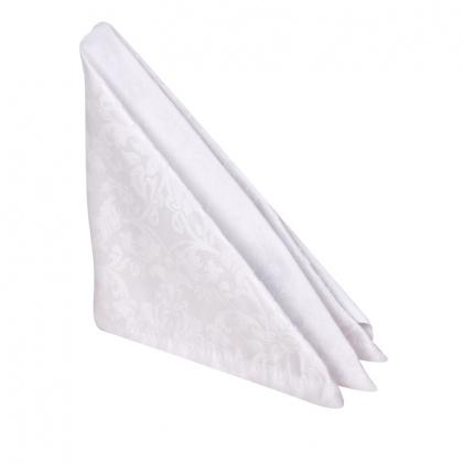 Салфетка 45х45 см «Журавинка» белая (цветок) - интернет-магазин КленМаркет.ру