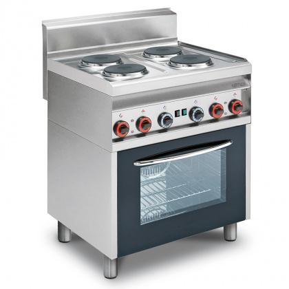 Плита электрическая LOTUS CF4-8ET четырехконфорочная с жарочным шкафом (65 серия) - интернет-магазин КленМаркет.ру