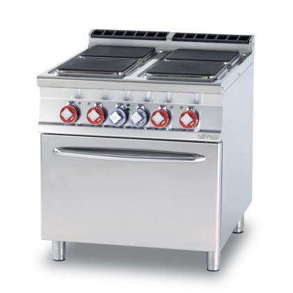 Плита электрическая LOTUS CFQ4-98ET четырехконфорочная с жарочным шкафом (серия 90) - интернет-магазин КленМаркет.ру