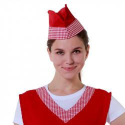 Пилотка продавца красная с клеткой - интернет-магазин КленМаркет.ру
