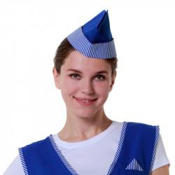 Пилотка продавца синяя полоска - интернет-магазин КленМаркет.ру