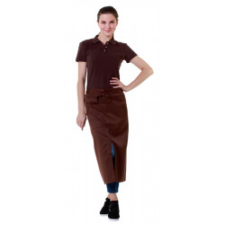 Футболка-поло женская коричневая с коротким рукавом - интернет-магазин КленМаркет.ру