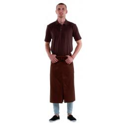 Футболка-поло мужская коричневая с коротким рукавом - интернет-магазин КленМаркет.ру