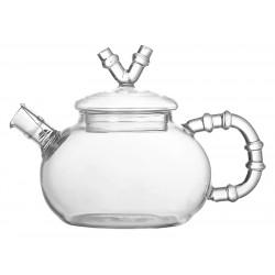 Чайник заварочный «Bamboo» из боросиликатного стекла с ситечком–пружинкой 600 мл  - интернет-магазин КленМаркет.ру