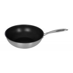 Сковорода ВОК Luxstahl 340/90 из нержавеющей стали, антипригарное покрытие [C241341] - интернет-магазин КленМаркет.ру