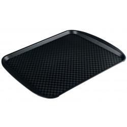 Поднос столовый из полипропилена 450х350 мм черный [4660011181790] - интернет-магазин КленМаркет.ру