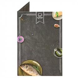 Папка для счетов «Мел» из кашированного картона - интернет-магазин КленМаркет.ру