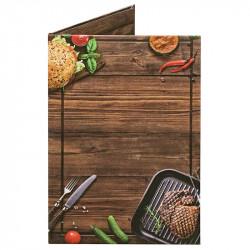 Папка для счетов «Бургер» из кашированного картона - интернет-магазин КленМаркет.ру