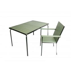 Комплект складной мебели (стол 130х80х75 мм и 4 стула с подлокотниками 58х67х90 мм) - интернет-магазин КленМаркет.ру
