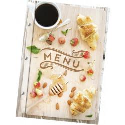 Папка для меню «Круассан» из кашированного картона - интернет-магазин КленМаркет.ру