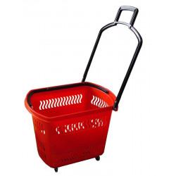 Корзина-тележка пластиковая на 4-х колесах PBT30 - интернет-магазин КленМаркет.ру