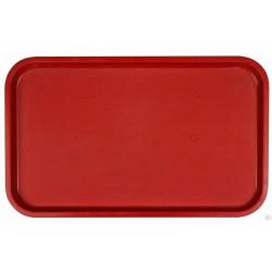 Поднос столовый из полипропилена 530x330 мм красный - интернет-магазин КленМаркет.ру